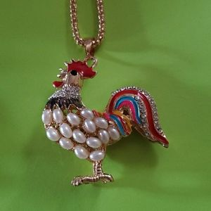 Rooster 🐓 Chicken 🐔 Necklace